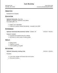 Examples Of Student Resumes With No Work Experience Imposing Sample ...