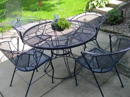 Modern Outdoor Wrought Iron Patio Furniture With Dining Table