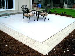 ideas pavers over concrete patio and installing over concrete
