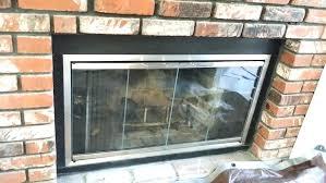 cleaning glass fireplace doors fireplace glass door custom fireplace glass doors custom satin nickel glass fireplace