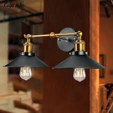 home wall lighting. Indoor Sconce Lighting Fixtures Vintage Industrial Loft Metal Wall Lamp Double Heads Retro Light Brass Led Iron Sconces Home Depot