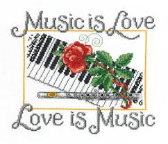 Imaginating Cross Stitch Charts Music Is Love