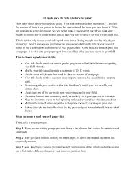 Research Paper Title 10 Tips To Pick The Right Title For Your Paper