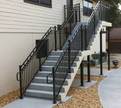 ... Fetching Outdoor Metal Staircase For Your Inspiration : Divine Home  Exterior Decoration Using Black Metal Exterior ...