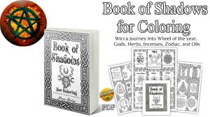 flip through book of shadows for coloring ready made bos wiccan coloring book