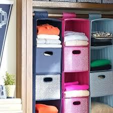 hanging closet organizer 6 shelf canvas
