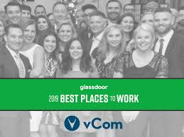vcom honored as one of the best places in the u s to work in 2019 a glassdoor employees choice award winner