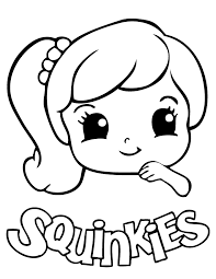 Small Picture Cute Squinkies Girl Coloring Page Free Printable Coloring Pages