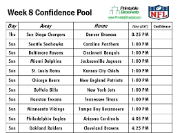 Blank Football Pool Printable Schedule Sheets At Template – Tangledbeard