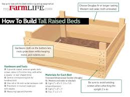 how to build tall raised beds for your