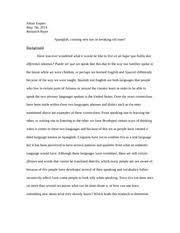 spanglish essay chisek matthew chisek professor john espinoza  spanglish 10 pages linguistics research paper
