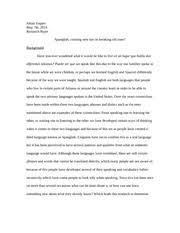 spanglish essay chisek matthew chisek professor john espinoza  spanglish 10 pages linguistics research paper