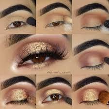 gold glitter eye makeup tutorial for brown eyes s you chel uc76yoqija6gej0 fuhrqxjg