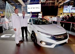 new car 2016 canadaHonda of Canada Mfg Global Lead Plant for TenthGeneration Civic