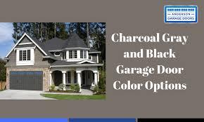 Charcoal Gray And Black Garage Door Color Options  Anderson Doors