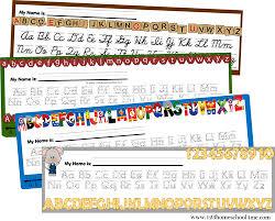 Free Alphabet Desk Chart Teaching Kindergarten Homeschool
