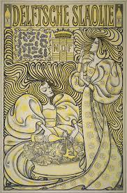 Art Nouveau Poster Designers Delftsche Slaolie Jan Toorop 1894 Art Nouveau Poster