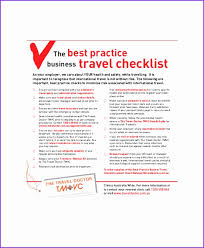 5 Travel Checklist Samples Buzzines Templates