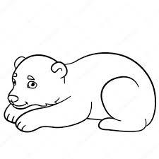 Disegni Da Colorare Piccolo Orso Polare Sveglio Del Bambino