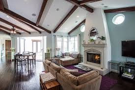 view in gallery gentle blue shapes a relaxing backdrop in the living area design c c