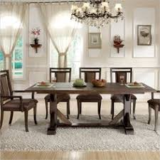 riverside furniture promenade trestle table in warm cocoa 84553 lowest on all trestle dining