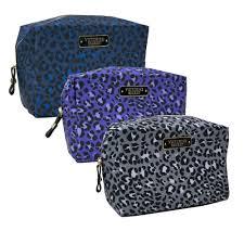 victoria s secret cosmetics case makeup bag travel leopard print zipper vs new ebay