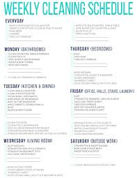 Bathroom Cleaning Schedule Impressive 48 Of The Best Free Printable Cleaning Schedules Cleaning