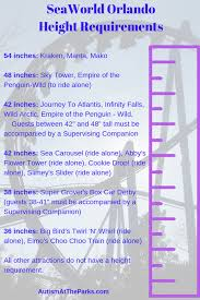 Universal Studios Height Chart Seaworld Rides And Attractions Guide Autism At The Parks