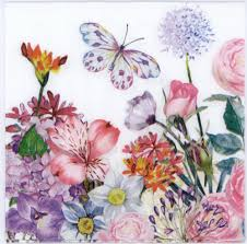 Spring Flower Paper Napkins Decorative Paper Napkins Of Butterfly In The Delightful Spring Flower Garden Luncheon Napkins For Decoupage