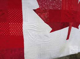 Colleen's Canadian Flag Quilt | Rose City Quilter & I really had fun playing with texture in the white areas! Adamdwight.com