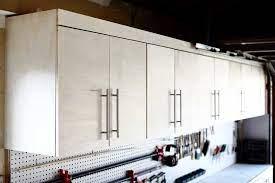 diy wall mounted garage cabinets