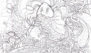 Small Picture Printable Koi Fish Coloring Page