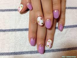 ネイル デザイン ピンク 紫