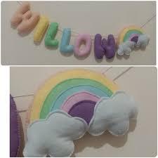 felt name letters nursery room