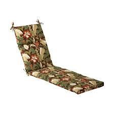 pillow perfect 1 piece brown green standard patio chair cushion