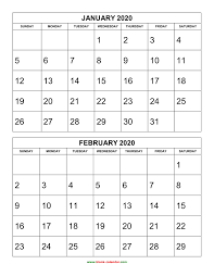 2019 Calendar 2020 Printable Canada Free Excel Calendar