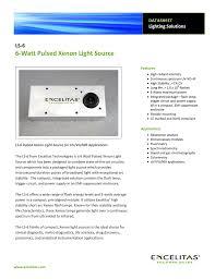 The Ls 6 6 Watt Pulsed Xenon Light Source Datasheet Manualzzcom
