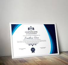 Corporate Certificate Template This Is A Corporate Certificate Template All Main Elements