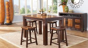 height of a dining room table. adelson chocolate 5 pc counter height dining room of a table