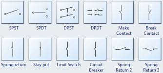 standard circuit symbols for circuit schematic diagrams switch symbols