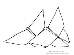 ちょうちょの折り紙の下絵蝶のぬりえ