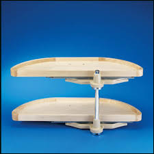 Blind Corner Cabinet Pull Out Shelves RevAShelf Lazy Susan HalfMoon Wood 100 Shelf Pivot And Slide 70