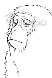 猿線画 フリー素材猿のイラスト まとめ Naver まとめ