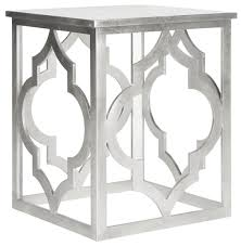 milo trellis silver leaf end table amh1508a accent tables