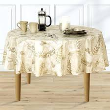 flannel backed vinyl fabric boxed fern flannel backed vinyl tablecloth indoor outdoor inch round taupe kitchen