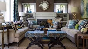 15 Interesting Combination of Brown and Blue Living Rooms | Home Design  Lover