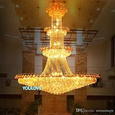 modern crystal chandeliers lights fixture led lamps american big gold crystal drop light hotel clubs home indoor lighting d120cm 180cm michigan chandelier