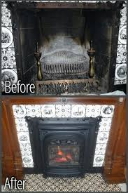antique gas fireplace insert antique b ornate