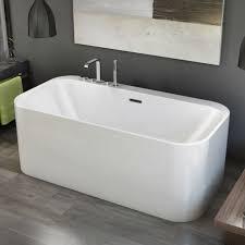 bathtubs idea 53 inch bathtub 54 inch bathtub kohler minimalist modern rectangular freestanding tub gray