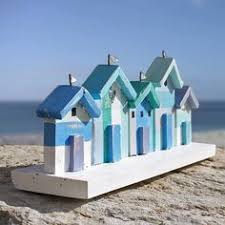 Beach Hut Decorative Accessories Details about Nautical Wooden Painted Painted Beach Huts On Smooth 74